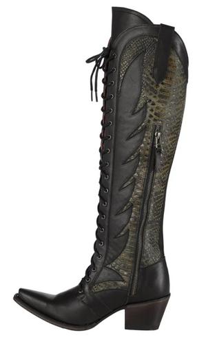 Junk Gypsy by Lane Trail Boss Black Boots JG0060C Photo