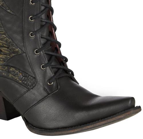 Junk Gypsy by Lane Trail Boss Black Boots JG0060C Toe