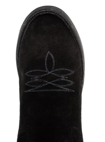 Lane Fire Away Soft Black Suede Boots LB0466B Toe
