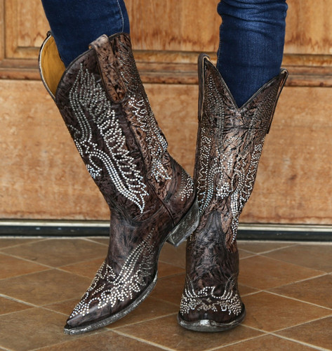 Old Gringo Eagle Swarovski Crystal Boots L443-1 Picture
