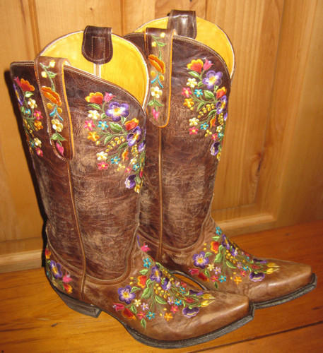 Old Gringo Sora Brass Boots L841-3 Top