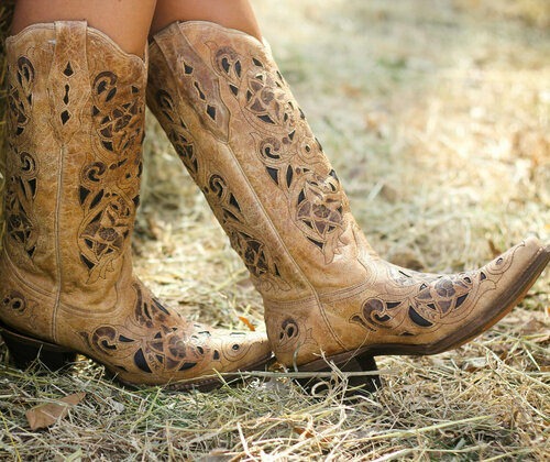 Corral Boots Antique Saddle Brushed Laser Boots A1970