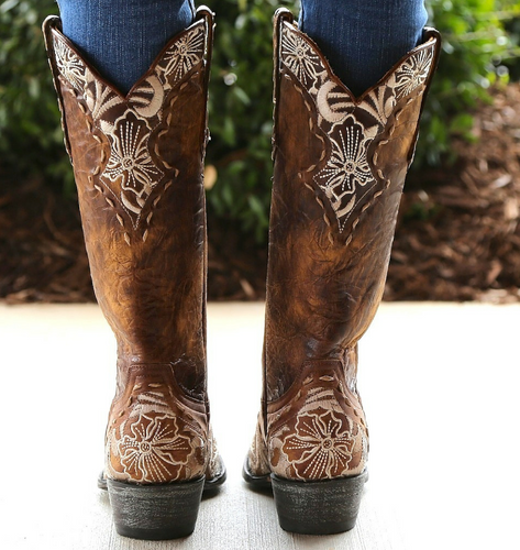 Old Gringo Erin Brass Bone Boots L640-4 Heel