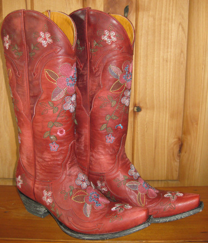 Old Gringo Bonnie Red Boots L649-3 Left