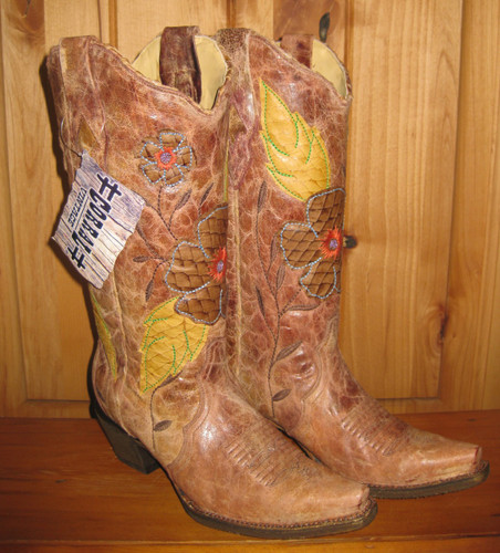 Corral Daisy Cognac Cowgirl Boots