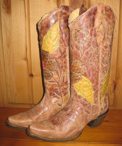 Corral Daisy Cognac Boots A2048