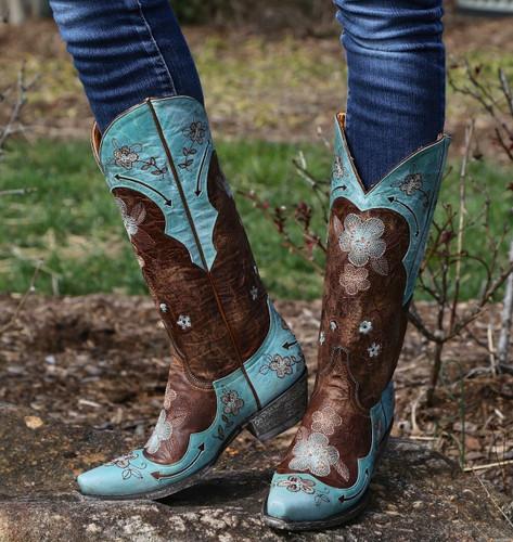 Old Gringo Bonnie Aqua Boots L649-4