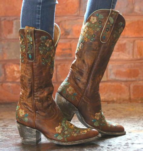 Old Gringo Sora Brass Teal Boot Image