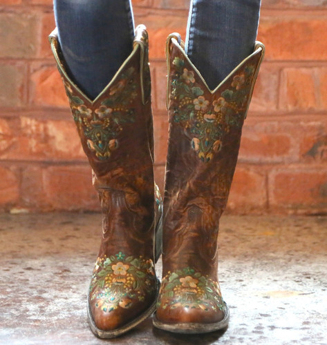 Old Gringo Sora Brass Teal Boots