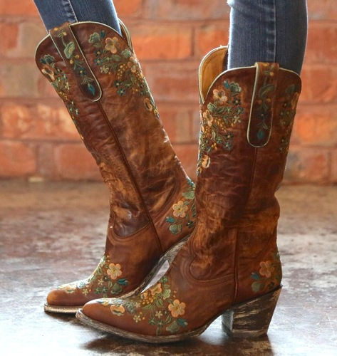 Old Gringo Sora Brass Teal Boots L841-4