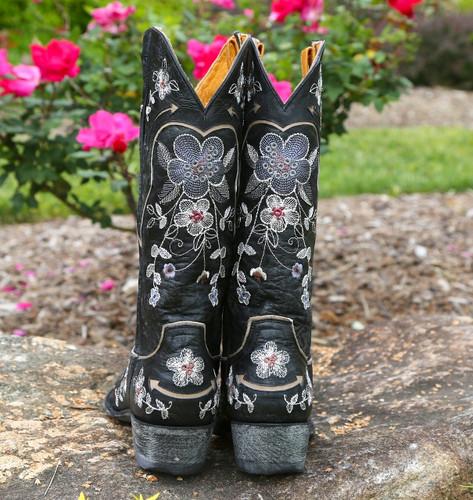 Old Gringo Bonnie Pipin Black Boots L696-6 Heel