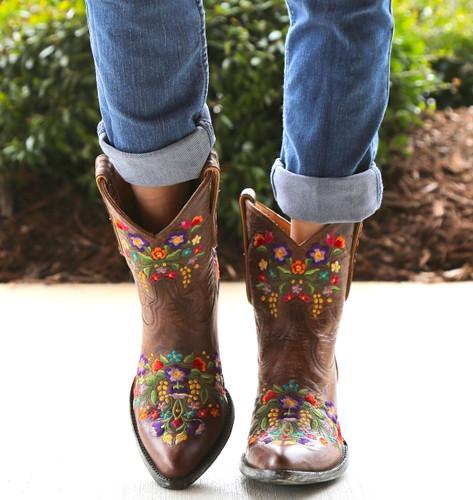 Old Gringo Sora Brass Short Boots L841-1 Toe