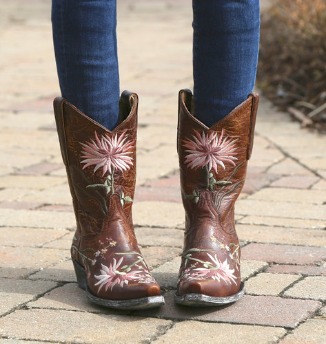 Old Gringo Ellie Boots Brass/Pink L575-6 Picture