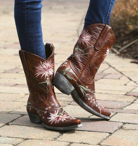 Old Gringo Ellie Boots Brass/Pink L575-6 Back