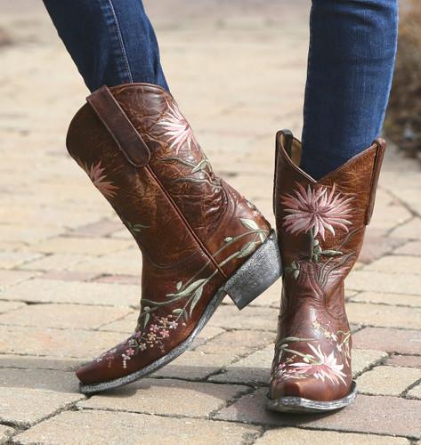 Old Gringo Ellie Boots Brass/Pink L575-6 Image