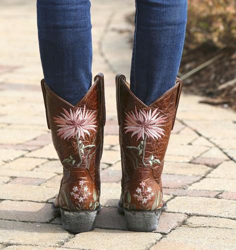 Old Gringo Ellie Boots Brass/Pink