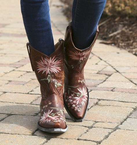 Old Gringo Ellie Boots Brass/Pink L575-6 Toe