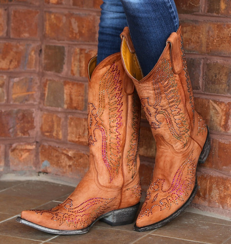 Old Gringo Eagle Swarovski Mango Boots L443-8 Side