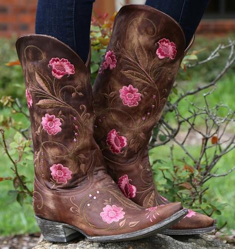 Old Gringo Julie Brass Pink Boots L956-2 Image