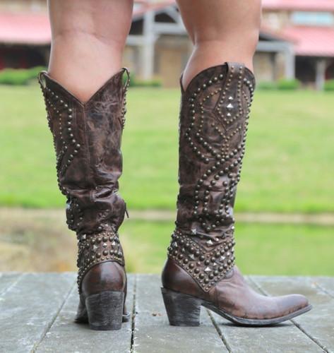 Old Gringo Belinda Chocolate Boots L903-8 Heel