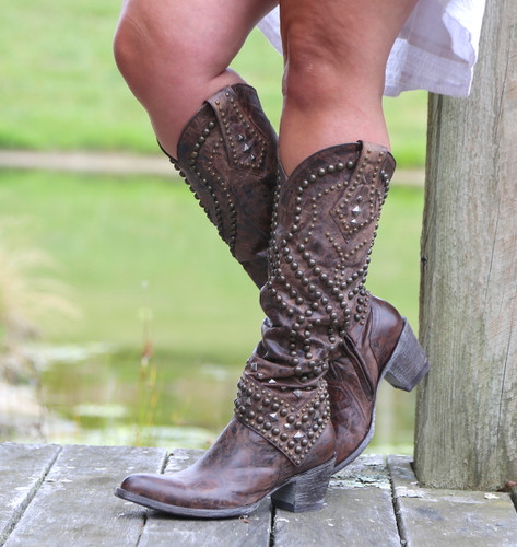 Old Gringo Belinda Chocolate Boots L903-8 Studs