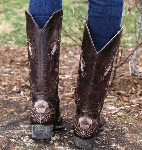 Old Gringo Julie Chocolate Boots L956-3 Back