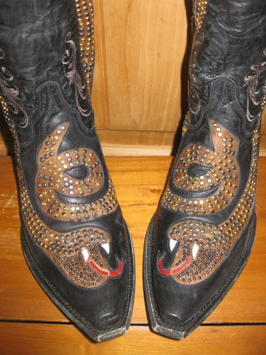 Old Gringo Snake Black Boots L1055-1 Toe