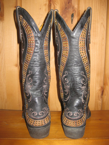 Old Gringo Snake Black Boots L1055-1 Back