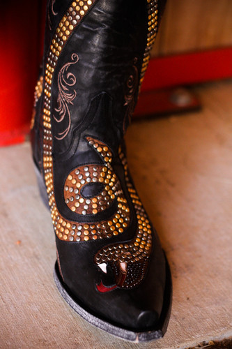 Old Gringo Snake Black Boots L1055-1 Top