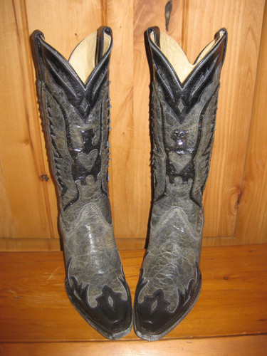 Corral Boots Black Eagle Inlay Boots