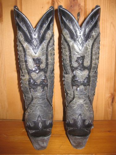 Corral Black Sequence Eagle Inlay Cowgirl Boots