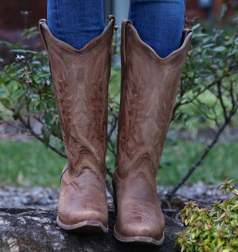 Corral Vintage Tan Cowhide Boots C1928 Image