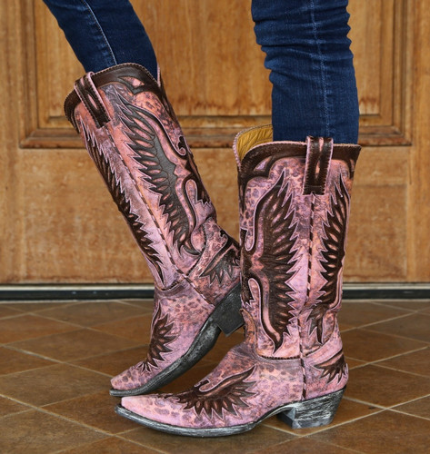 Old Gringo Pink Eagle Boots L105-65 Picture