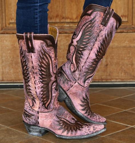 Old Gringo Pink Eagle Boots L105-65 Image