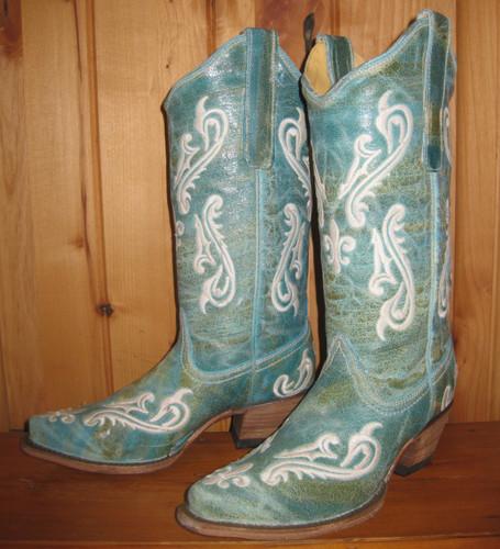 Corral Turquoise Blue Cortez Boots R1973