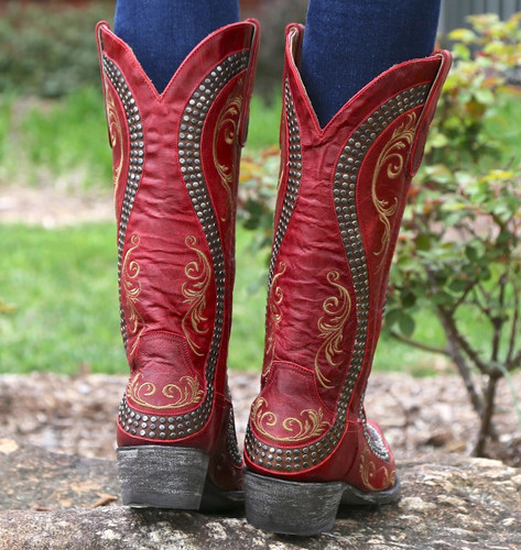 Old Gringo Snake Red Boots L1055-3