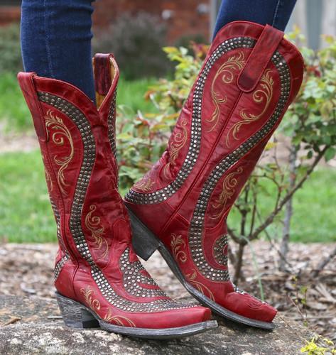 Old Gringo Snake Red Boots L1055-3 Image
