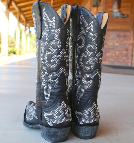 Old Gringo Diego Crystal Black Boots L1202-2 Heel