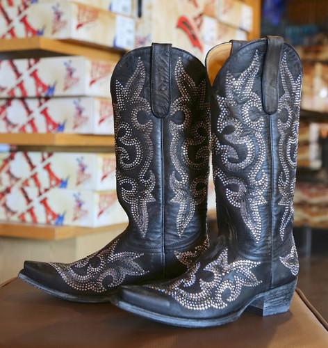 Old Gringo Diego Crystal Black Boots L1202-2 Inside Image