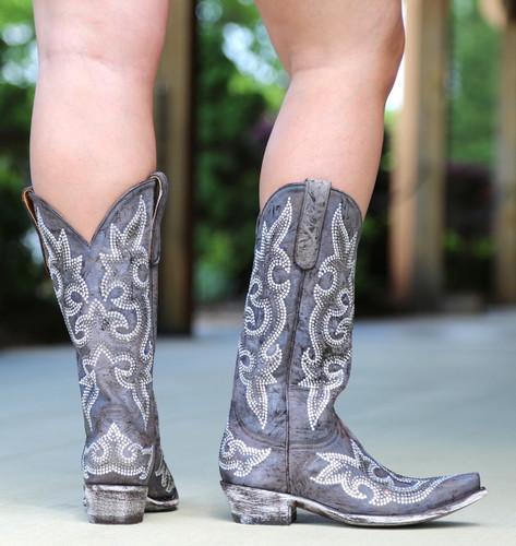 Old Gringo Diego Swarovski Crystal Boots L1202-1 Heel