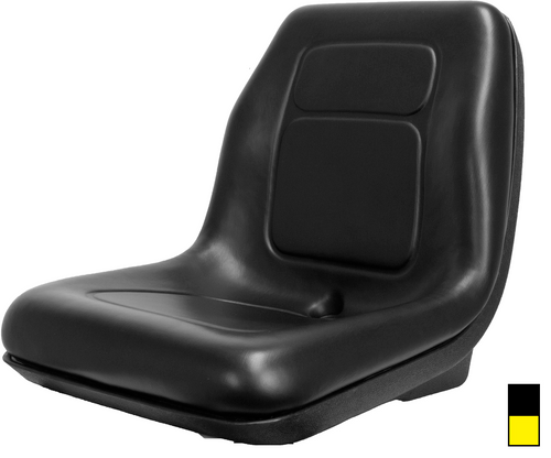 Ultra High Back Vinyl Seat Black or Yellow