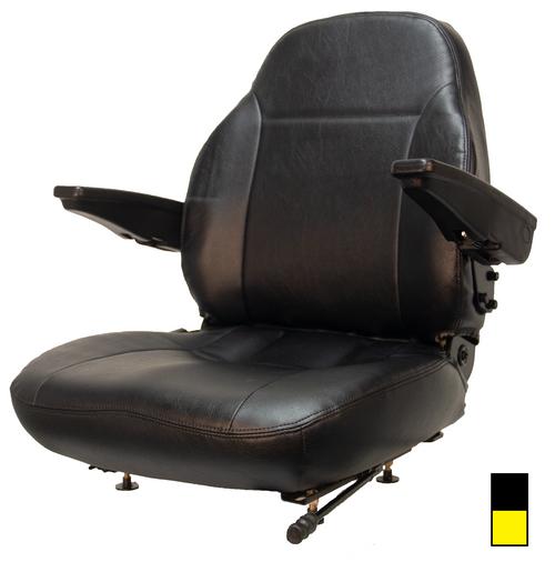Premium High Back Vinyl Zero Turn Mower Seat (Black or Yellow)