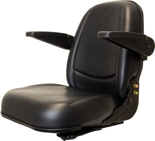 High Back Vinyl Seat w/Armrest & Slides