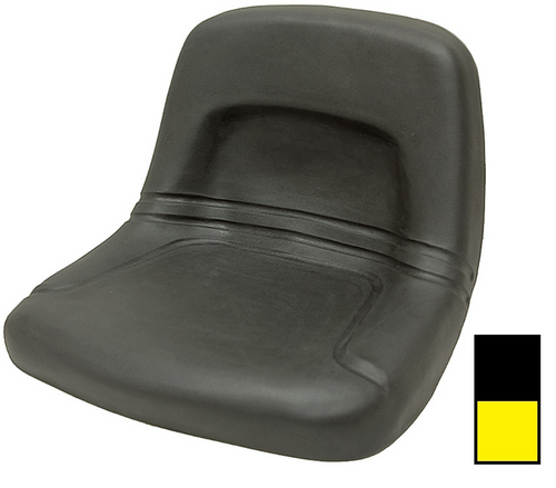 Economy High Back Steel Pan Vinyl Seat Black Or Yellow