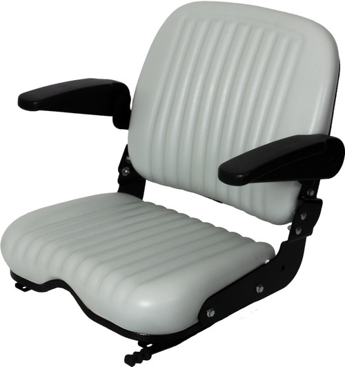 High Back Wide Base Seat W/Armrests and Slides