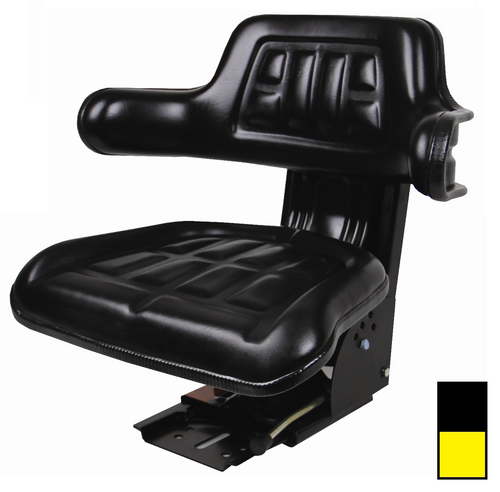 Universal Tractor Seat with Adjustable Suspension Black or Yellow