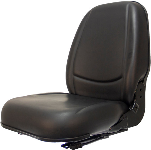 High Back Vinyl Seat w/Slides