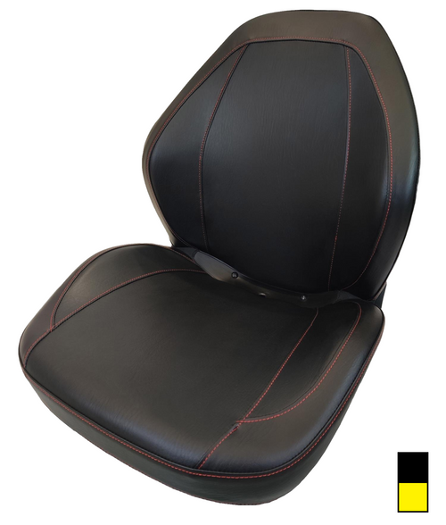 High-Back Sewn Vinyl Seat Black or Yellow