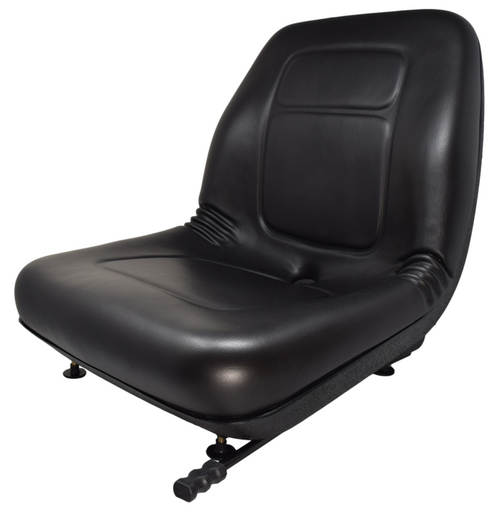 Ultra High Back Vinyl Seat Black with Slides