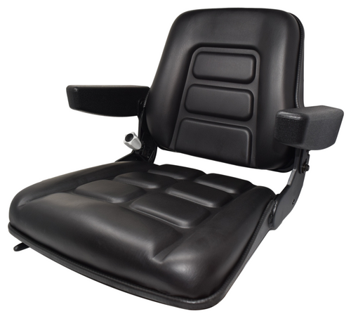 High-Back Vinyl Seat with Armrests and Slides